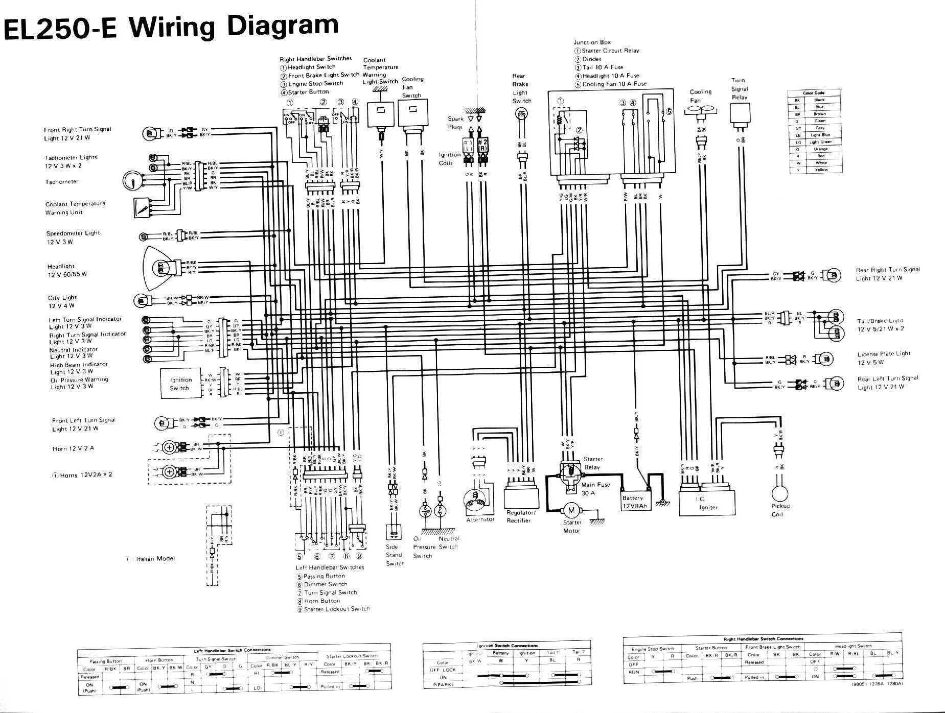 kawasaki ninja 250 ignition wiring diagram  kawasaki  free
